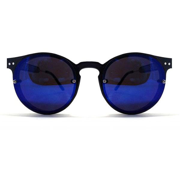 895c6b66db Spitfire Post Punk Black Dark Blue Mirror Sunglasses ( 42) ❤ liked on Polyvore  featuring accessories