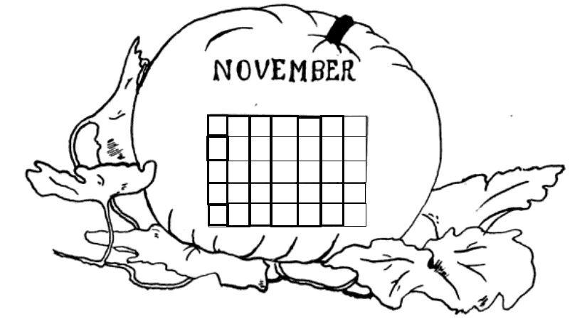 november pumpkin calendar http://thecommonroomblog.com