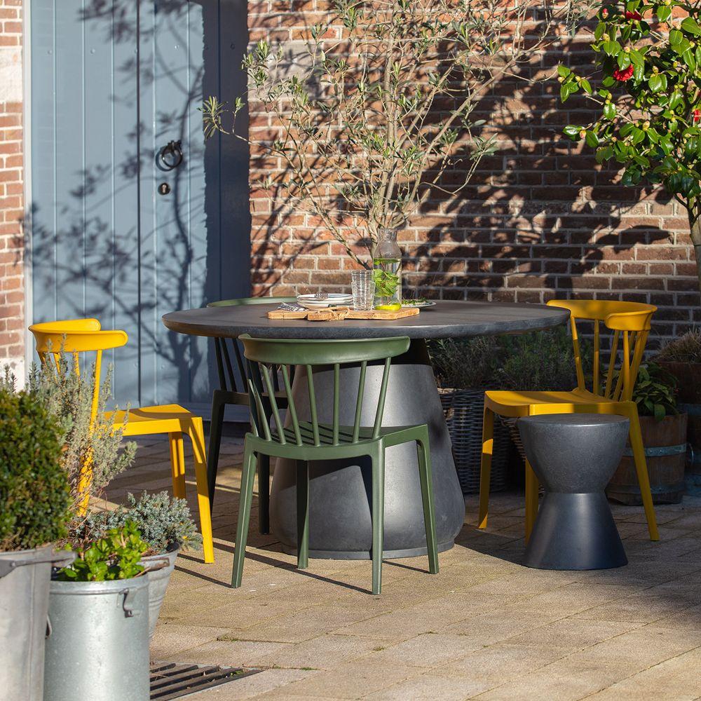 woood 2er Set Gartenstuhl BLISS grün stapelbar