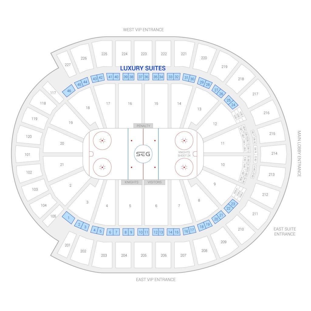 T Mobile Arena Seating Chart With Seat Numbers Di 2020 Dengan Gambar