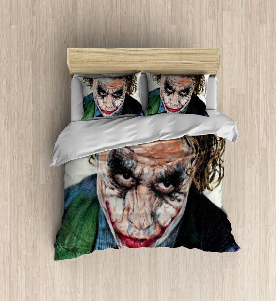 Batman Bedding The Joker Duvet Cover The By XOnceUponADesignx - Batman dark knight bedding