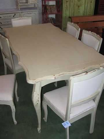 Juego comedor normando muebles manantiales vintage for Juego de comedor de cocina