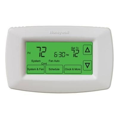 Honeywell 7-Day Programmable Touchscreen Thermostat-RTH7600D at The Home Depot