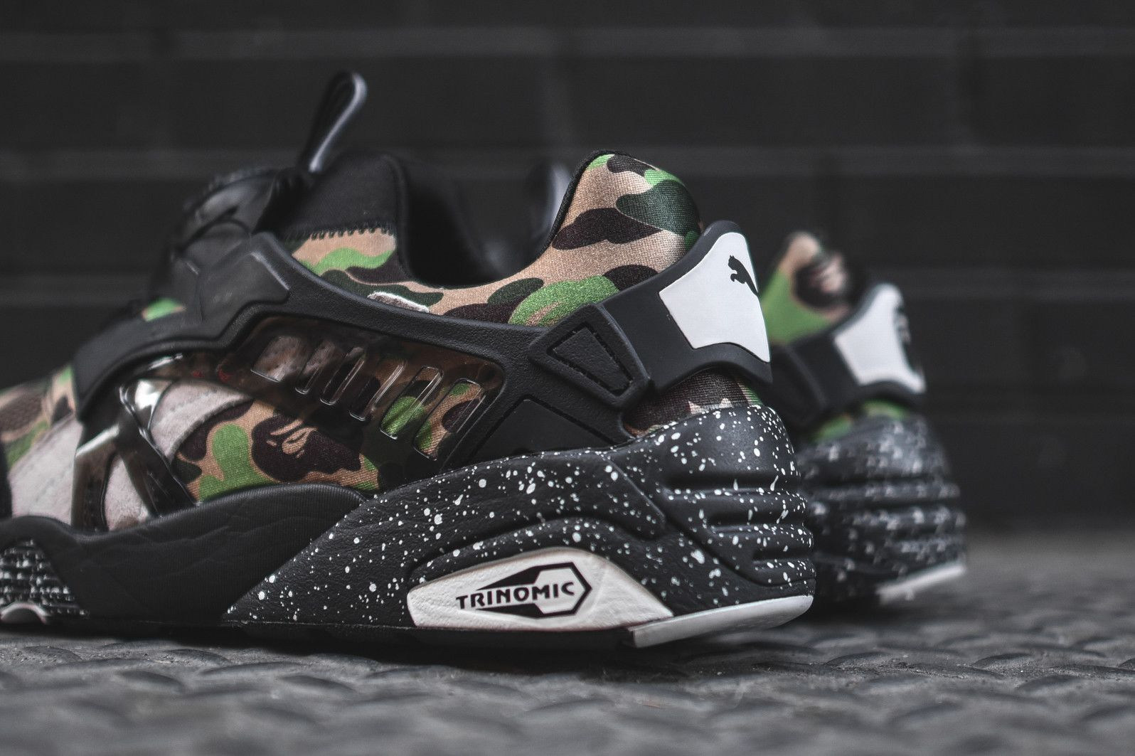 puma x bape disc blaze black camo sneakerhead. Black Bedroom Furniture Sets. Home Design Ideas