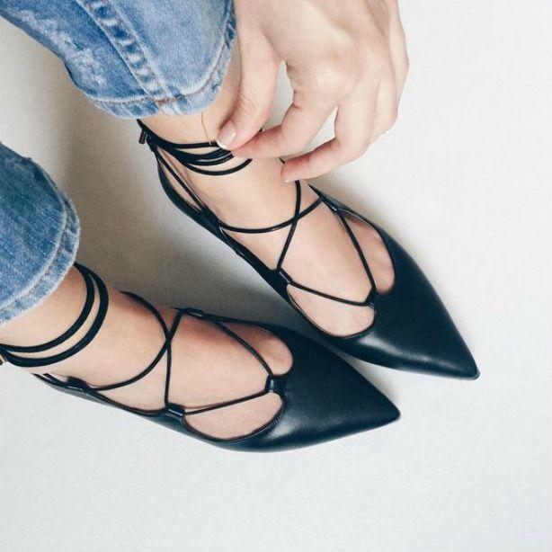 48318b89d Como usar sapatilha lace up ou sapatilha com amarração | Sapatos ...
