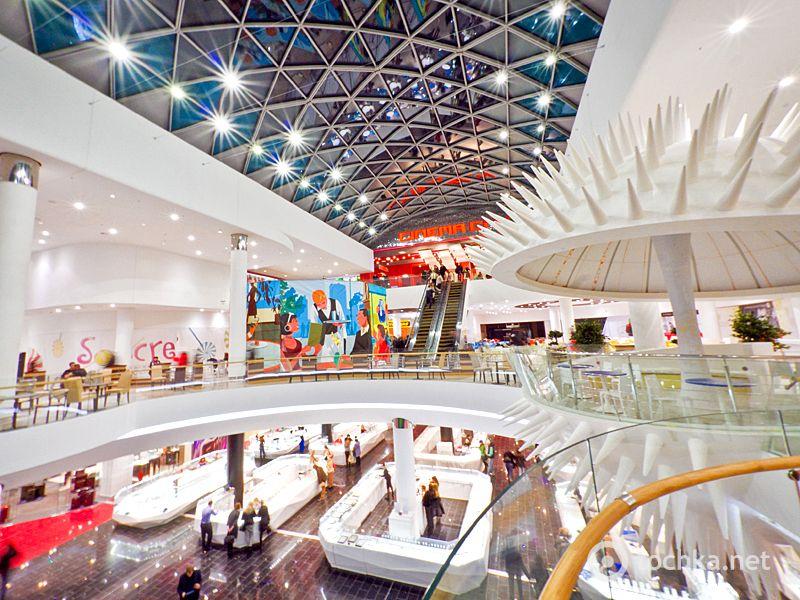 Ocean Plaza Shopping Mall Kiev Ukraine Architects Chapman Taylor Projecto Ip65 Projectors Cinquanta 4 Ip54 S Mall Design Skylight Design Shop Interiors