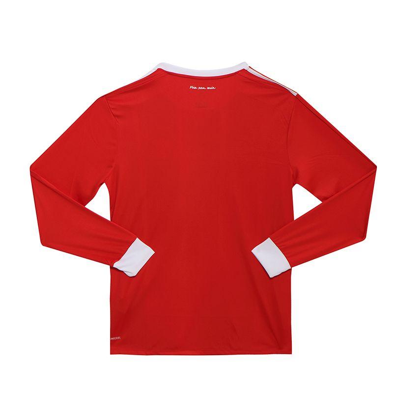 designer fashion 7e606 06299 17-18 Bayern Munich Home Long Sleeve Jersey Shirt, Bayern ...