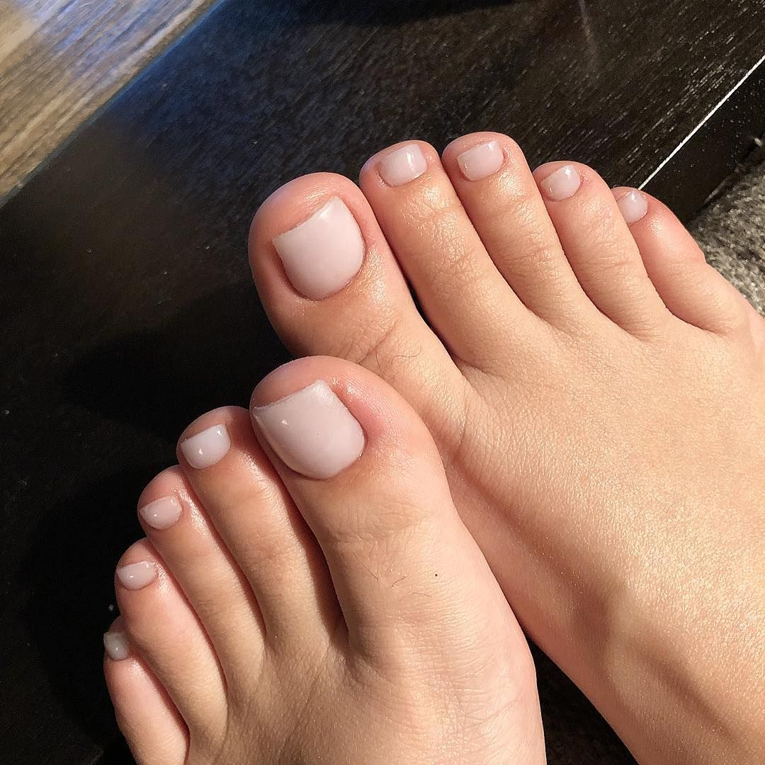 Nail Tech On Instagram Soft White Acrylic On All Toesss In 2020 Acrylic Toe Nails Feet Nails Acrylic Toes