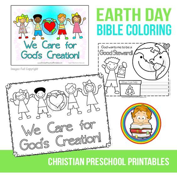 Christian Earth Day Coloring Page Coloring worksheets