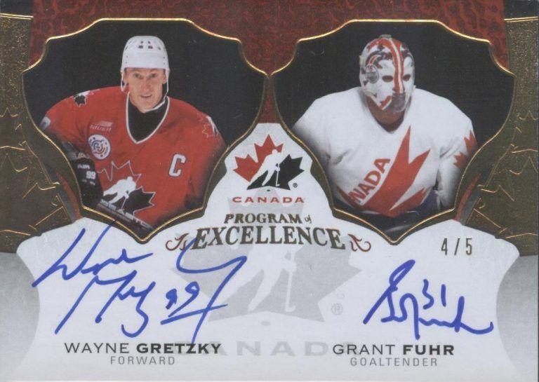 Program of Excellence Dual Auto Wayne Gretzky, Grant Fuhr
