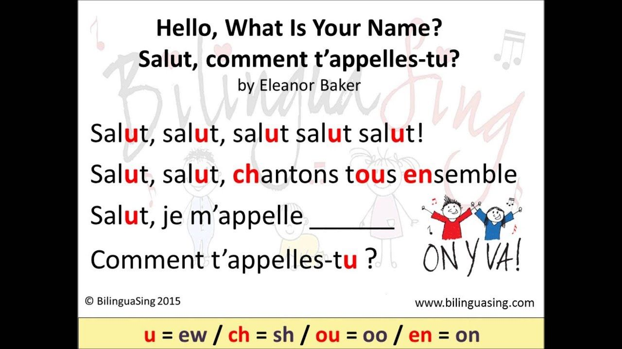 Bilinguasing What Is Your Name Comment T Appelles Tu Learn Gr What Is Your Name French Immersion Kindergarten Names
