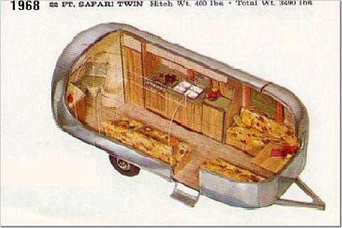 1968 Airstream Safari 22ft Airstream Trailers
