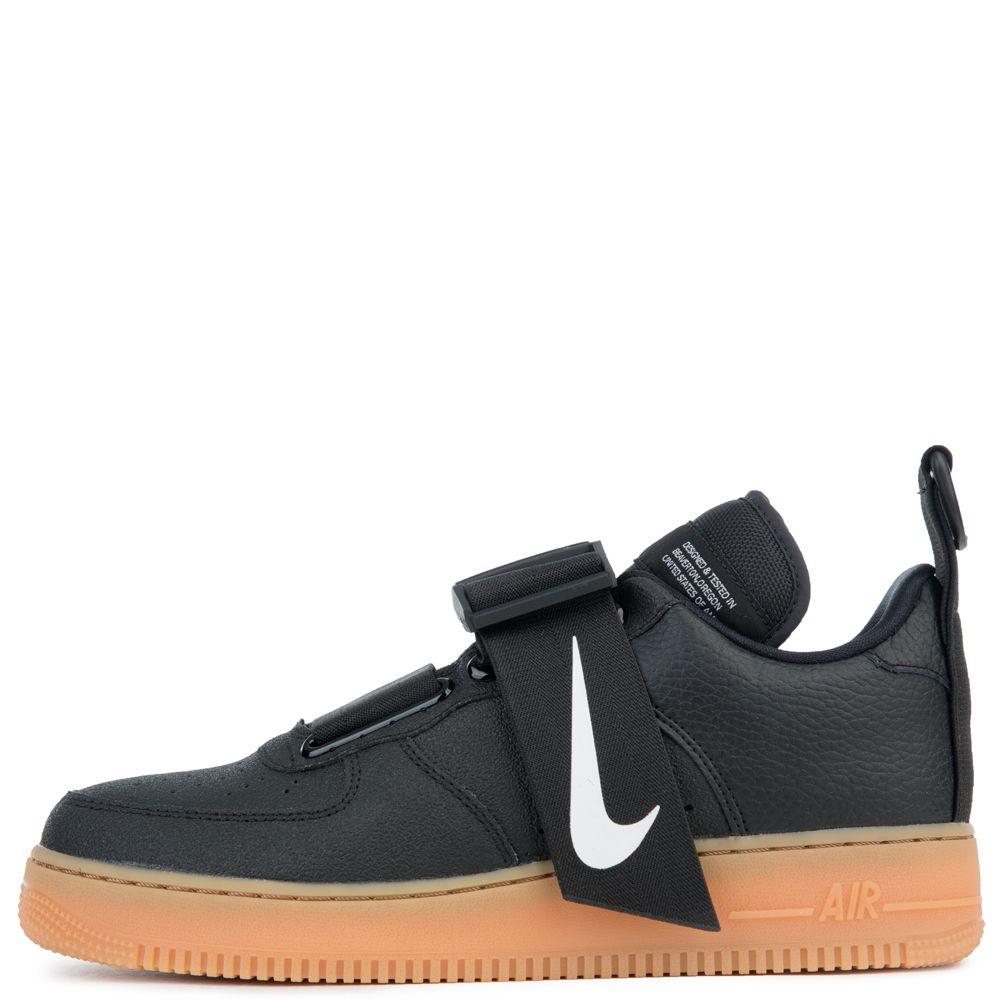 Nike Air Force 1 Utility Black White Gum Med Brown Black Nikes