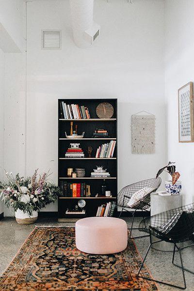Paint It Black Studio, Interiors and Black bookcase
