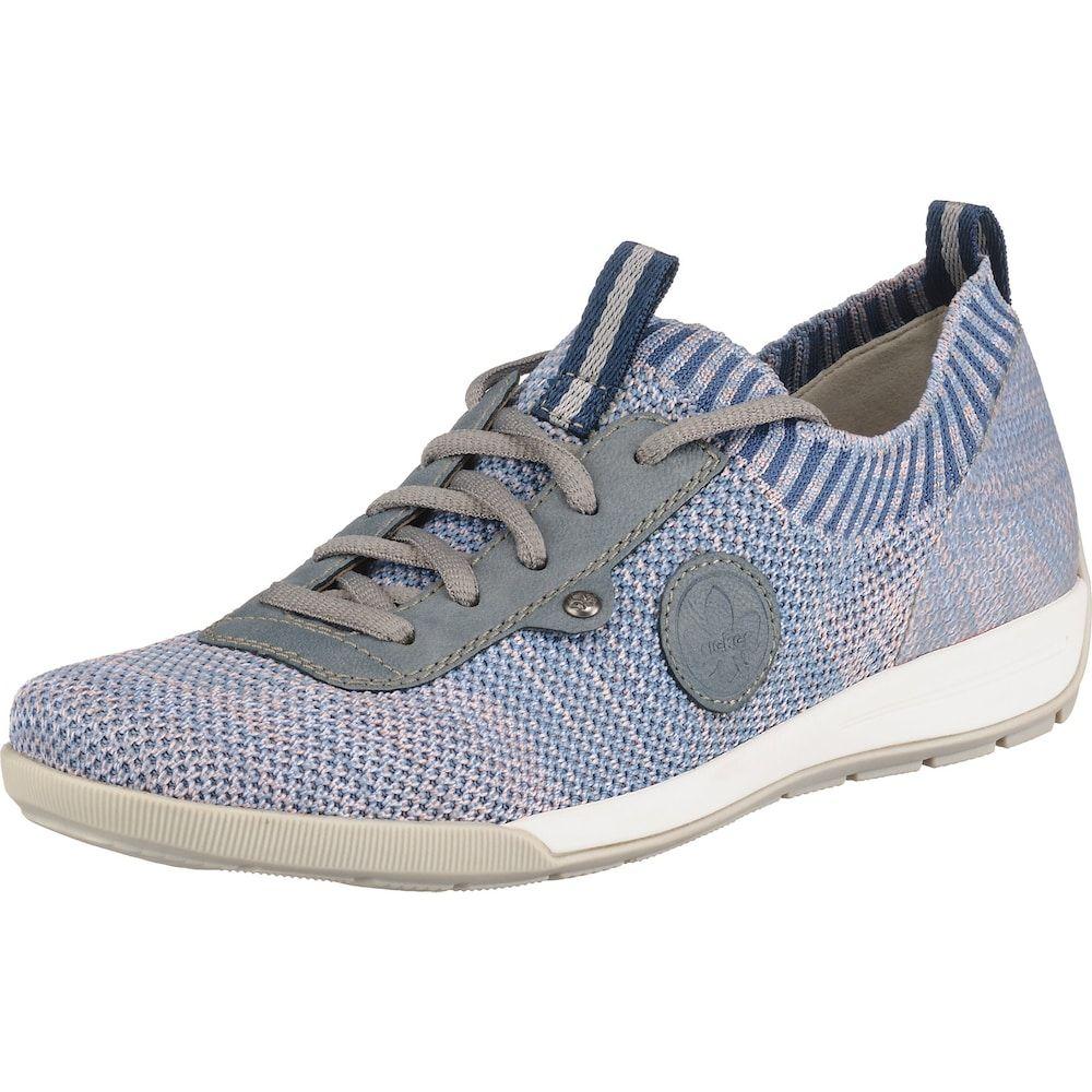 RIEKER Schuhe Damen, Blaumeliert, Größe 43 | Schuhe damen 8KSnL