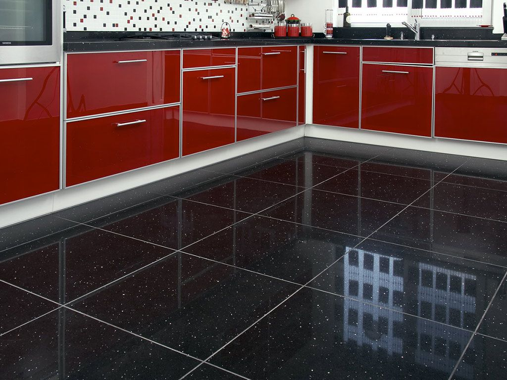 Black Kitchen Floor Tiles | http://web4top.com/ | Pinterest | Black kitchens,  Kitchen floors and Kitchen backsplash
