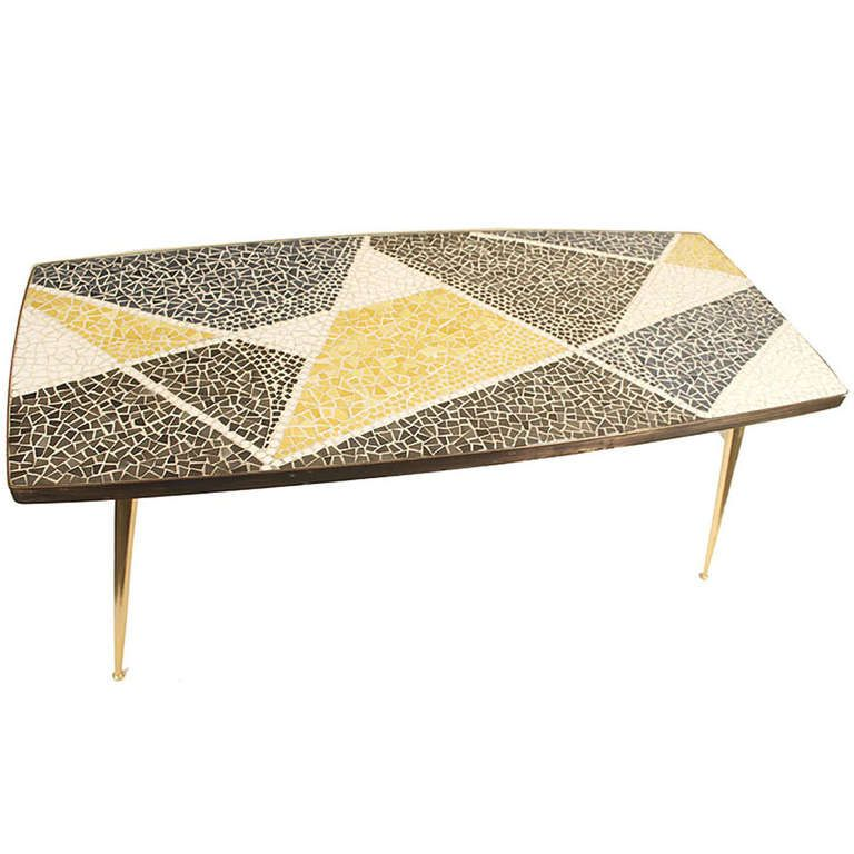 Mosaic Coffee / End Table Mid Century