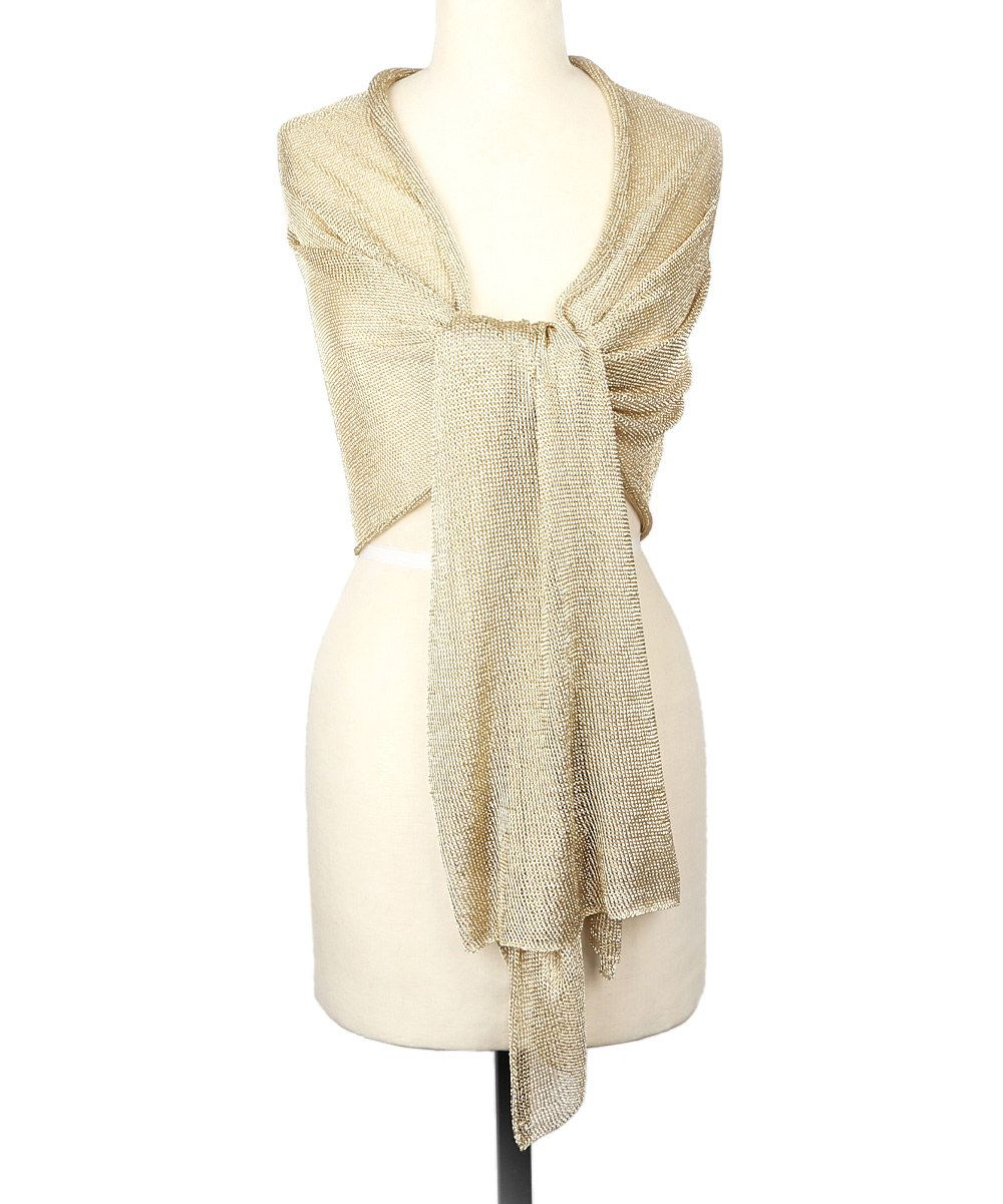 Betsey johnson wedding dresses  Look at this Betsey Johnson Gold Love Liquid Mesh Shawl on zulily