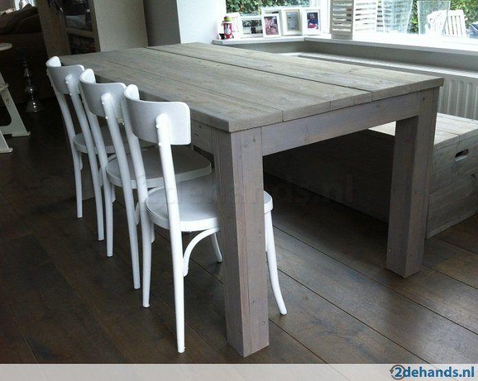 Tafel steigerhout grey wash 180x90x78 meubles pinterest