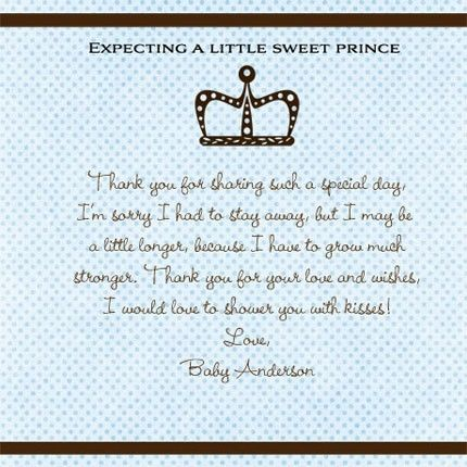 baby shower thank you card wording google search