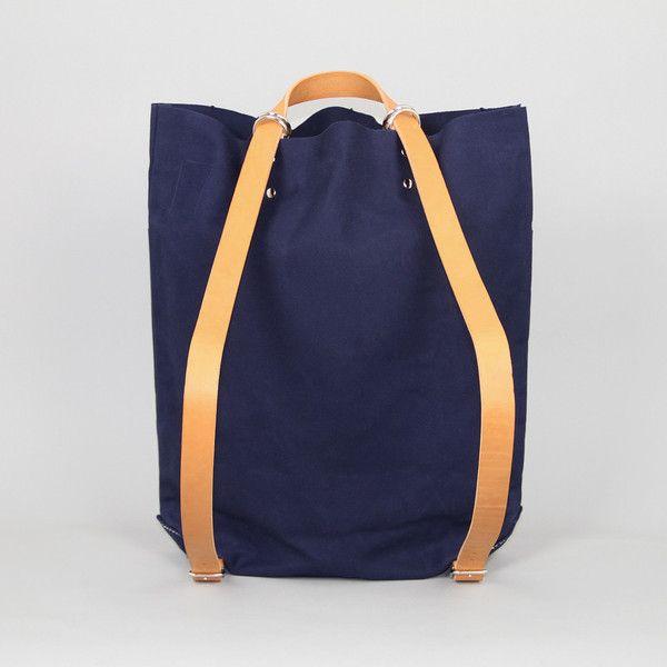 Tembea  School Bag in Navy Canvas