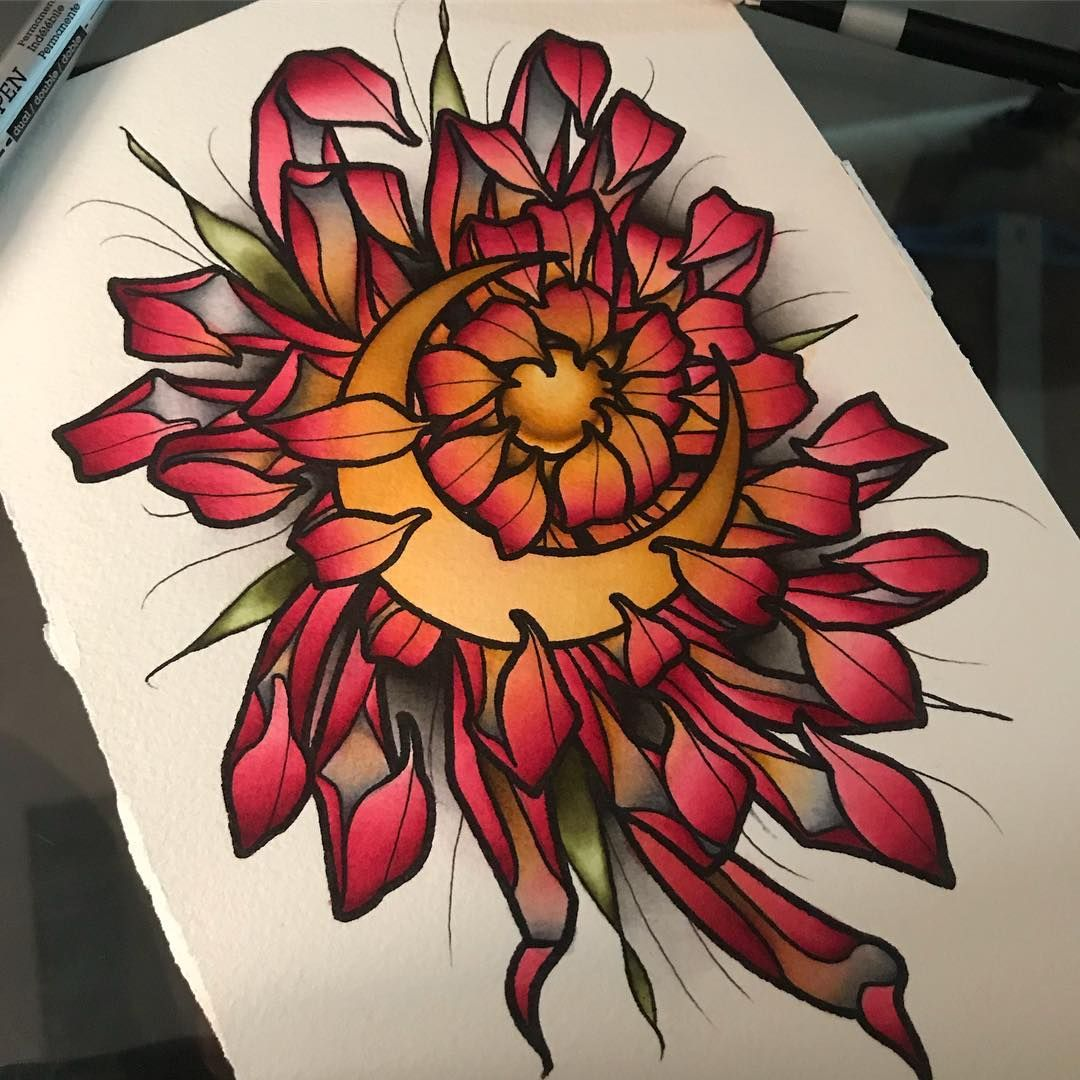 Credit Ant Walsh Tattoos Japanese Flower Tattoo Traditional Tattoo Flowers