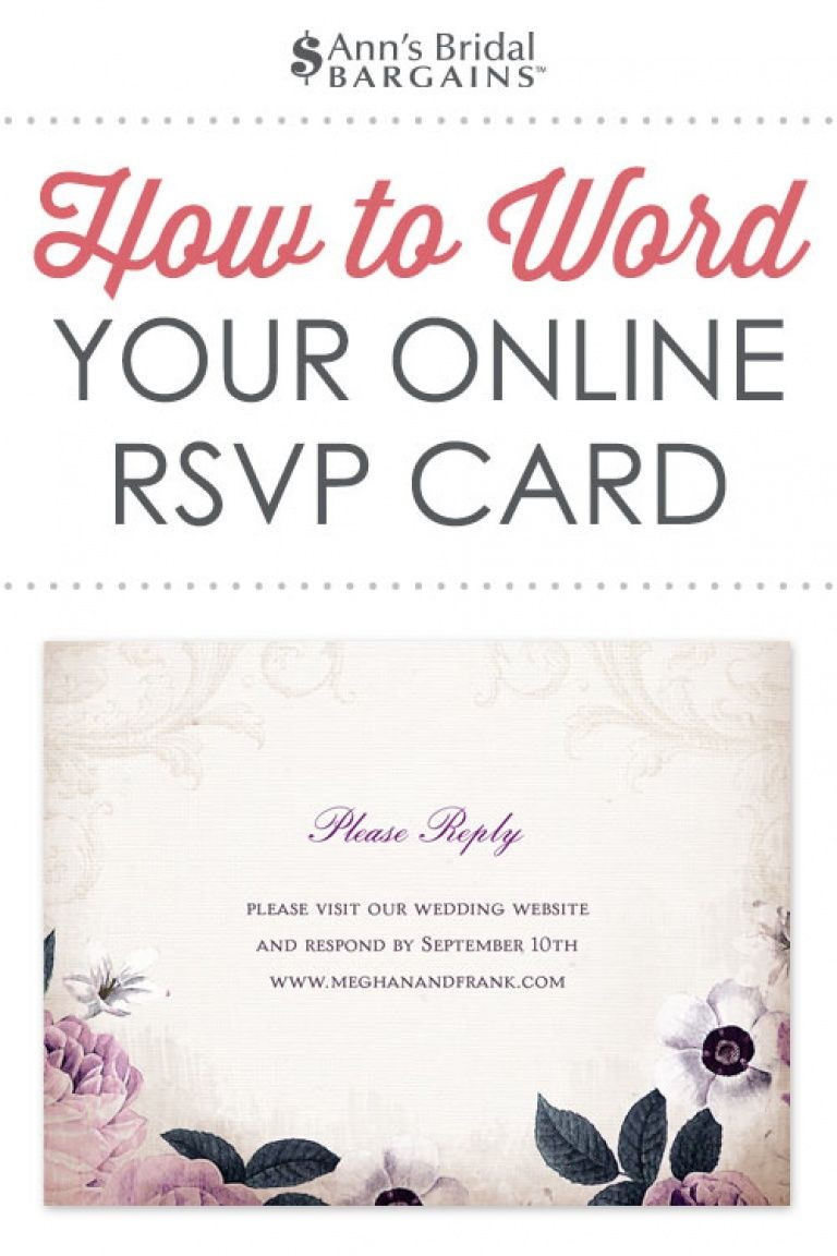Response Card Wording Examples for Online RSVPs  Wedding reply