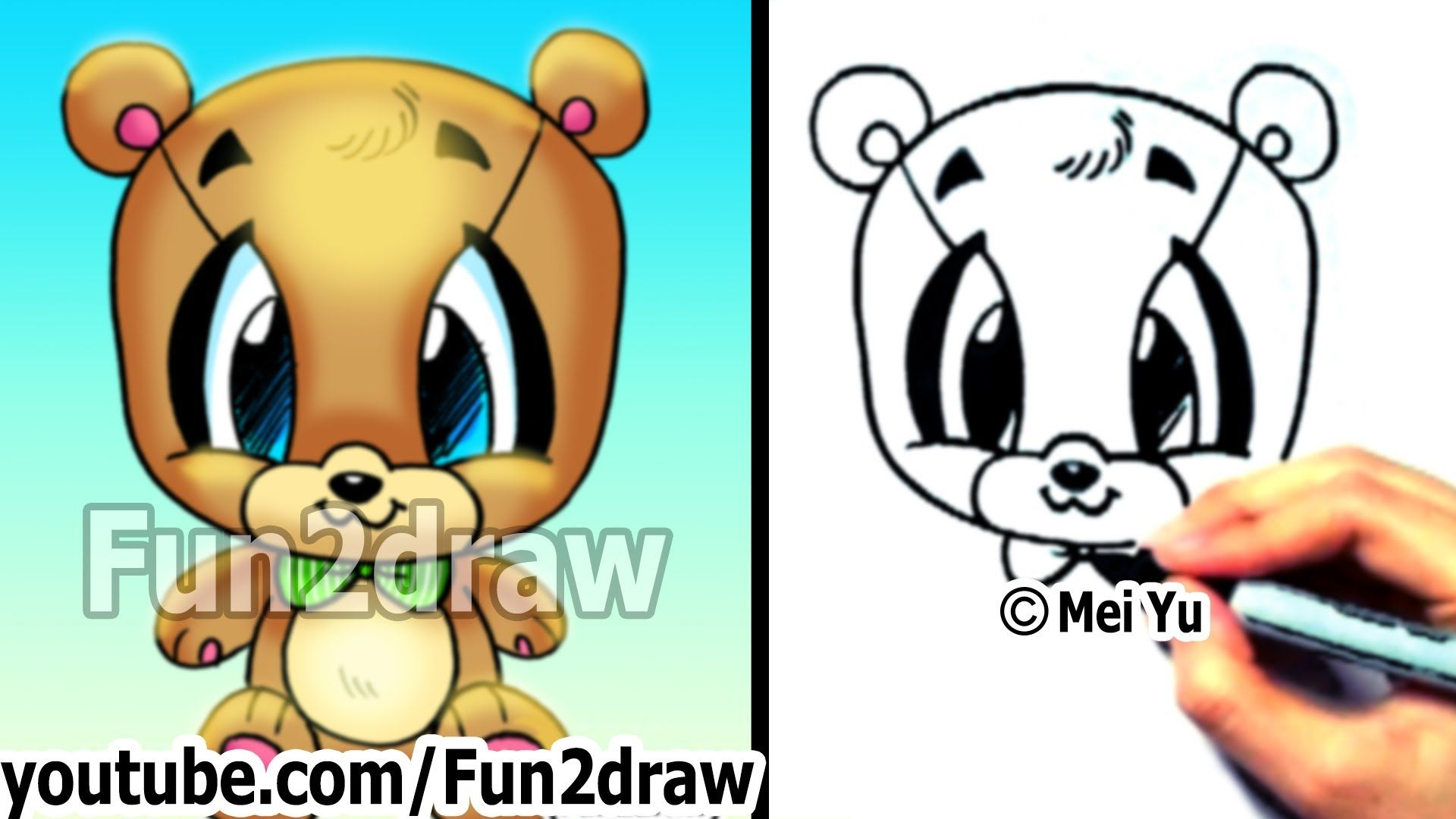 How To Draw Easy  How To Draw A Teddy Bear  Cute Drawings  Cute
