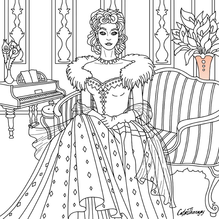 I Colored This Myself Using Color Therapy App For Iphone And Ipad It S So Fun And Relaxing Try This App Cute Coloring Pages Steampunk Coloring Coloring Books