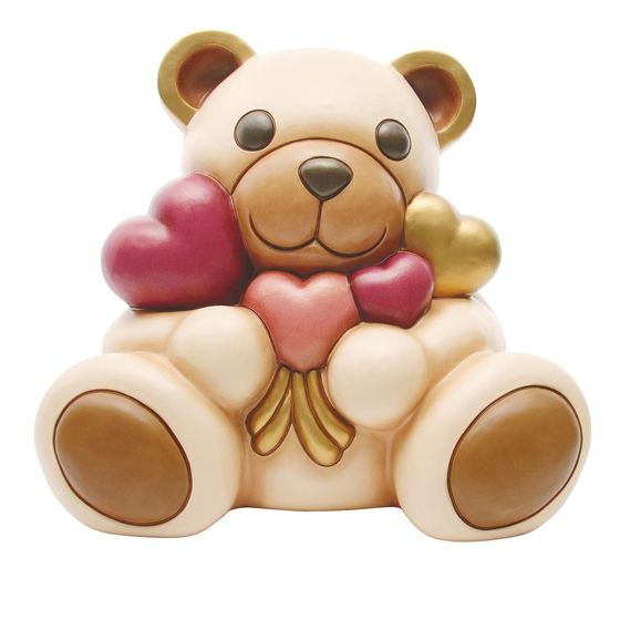 Teddy Con Mazzo Di Cuori Maxi Animali In Ceramica Bambole Di Porcellana Immagini