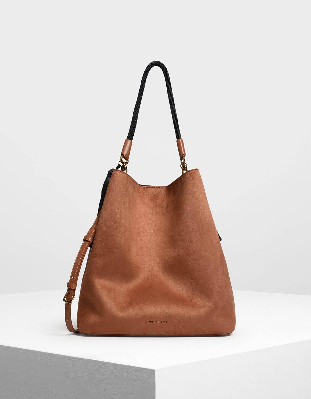d0e02819d7c Charles   Keith  Tassel Detail Oversized Bucket Bag  69   Closet ...