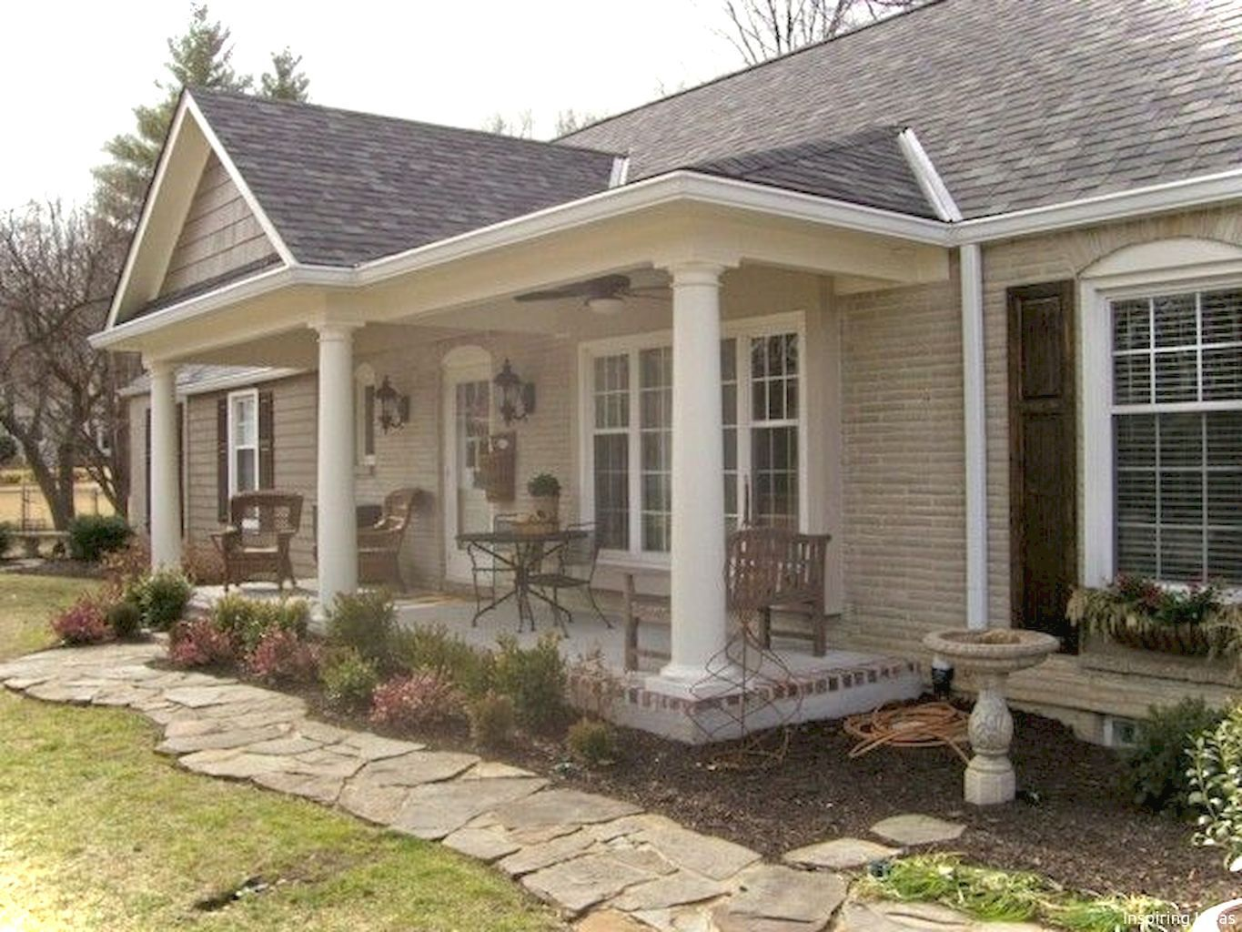 The Complete Book Of Running House Front Porch Facade House Ranch Style Homes
