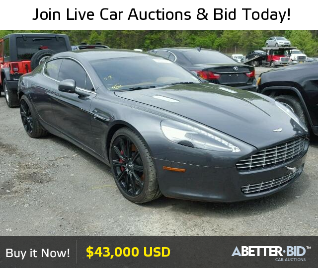 Salvage 2012 ASTON MARTIN ALL MODELS For Sale