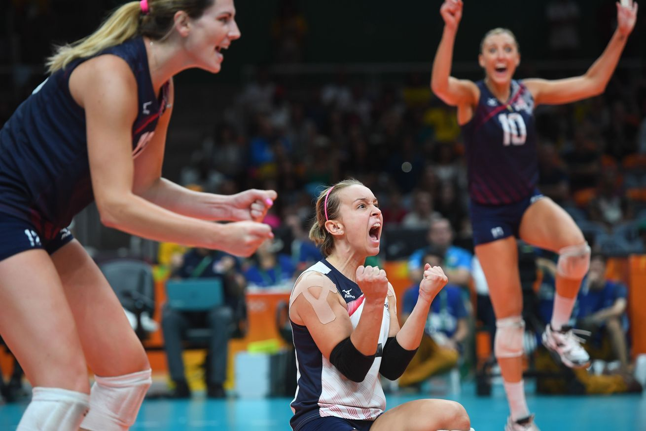 Olympic Volleyball Results 2016 United States Women Earn Top Seed While Women Volleyball Olympic Volleyball Volleyball Results