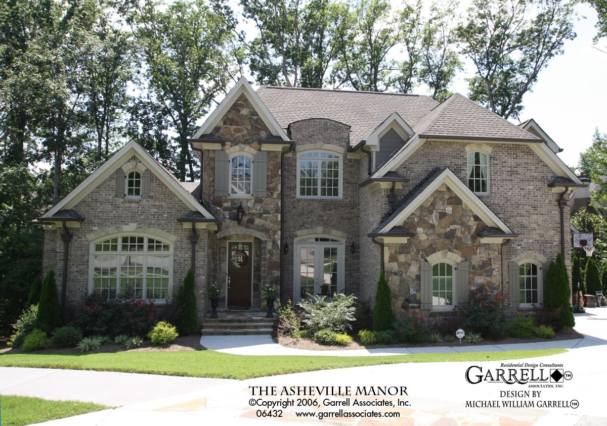 Asheville Manor House Plan 06432, Front Elevation, Traditional Style House Plans, French Style House Plans