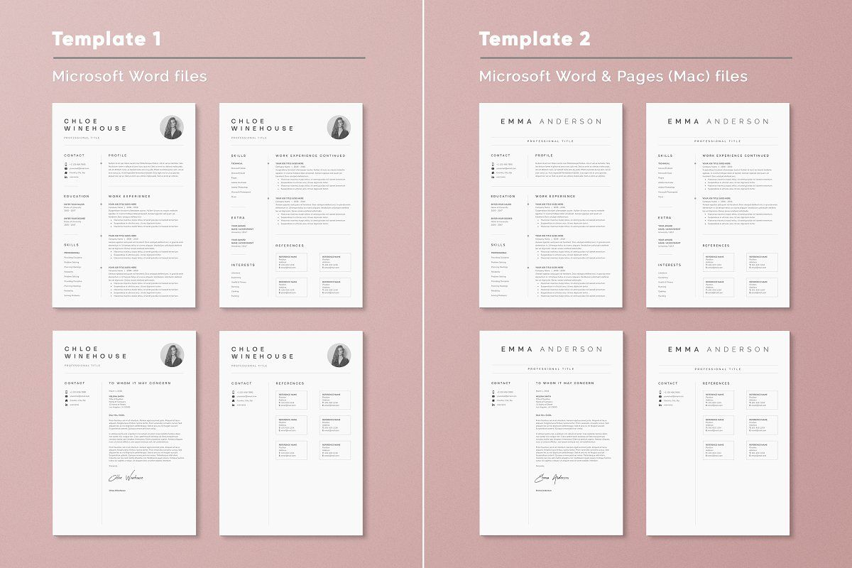 Ad Super Bundle Resume Templates by DemeDesign on