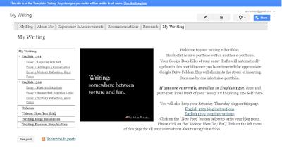 Bildungsroman: Changes to My Google Sites Student e-Portfolio ...