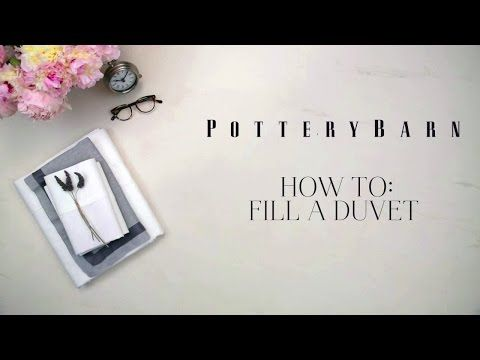 How to Fill a Duvet Cover | Pottery Barn. Do it inside out, tie