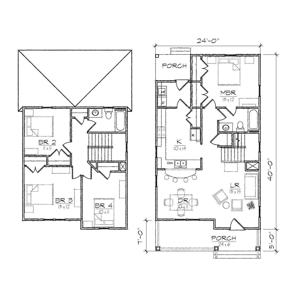 Granville III Turn of the century Floor Plan TightLines