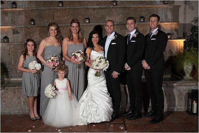Gray Bridesmaids Dresses Wedding Ideas