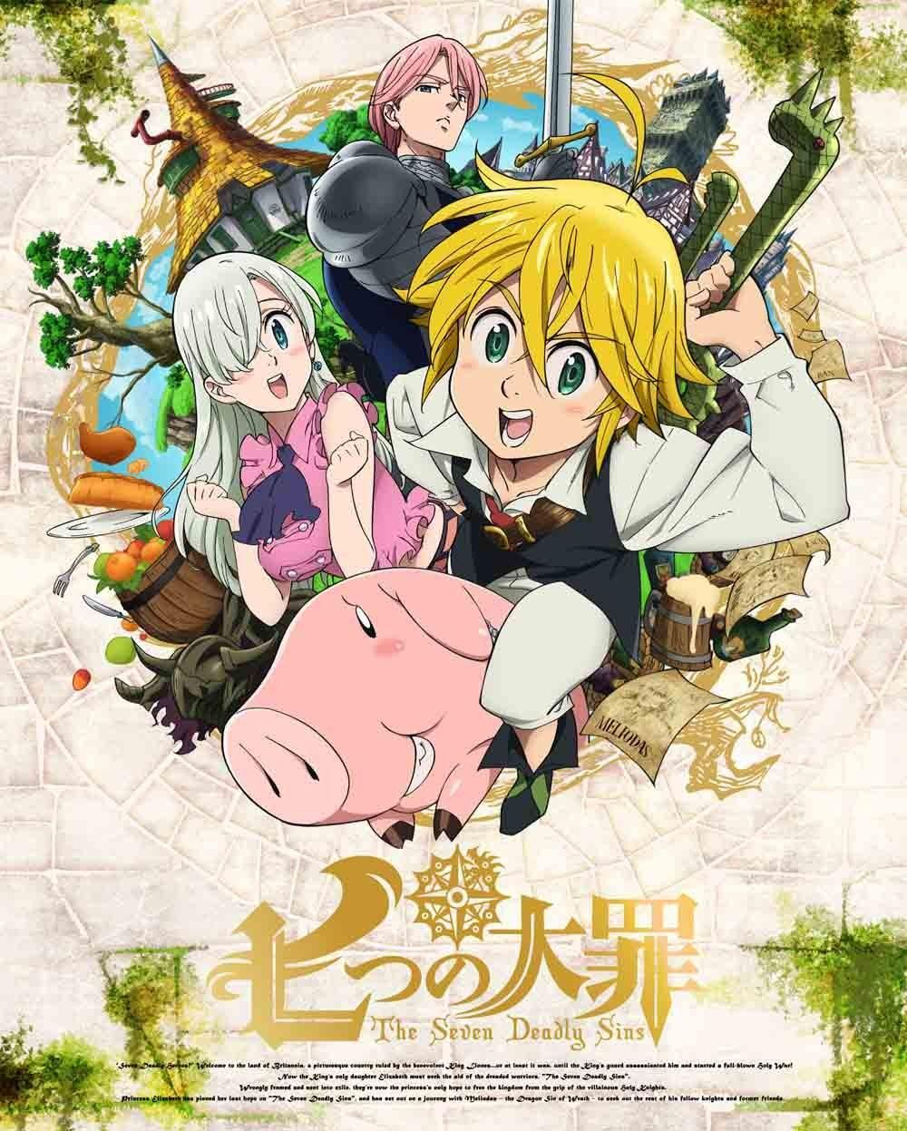 AnimeVoice on Seven deadly sins anime, Anime english
