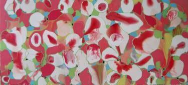 "Saatchi Art Artist Joel D'Orazio; Painting, ""Anatomy"" | I really hope this is of bone marrow and not of genitalia."