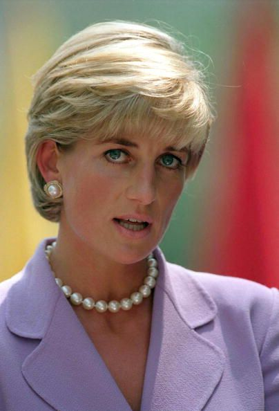 Diana, Princess of Wales attends a banquet in Came