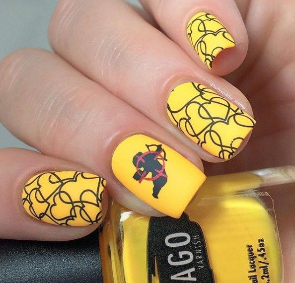 Top 150 ideas for Yellow Nail art designs - Reny styles - Top 150 Ideas For Yellow Nail Art Designs Yellow Nail Art, Yellow
