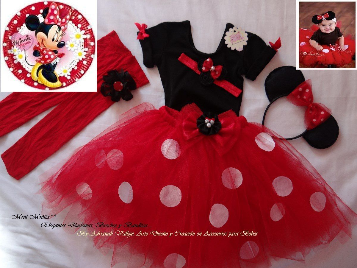 Ropa Infantil Vestido De Fiesta Minnie Coqueta En