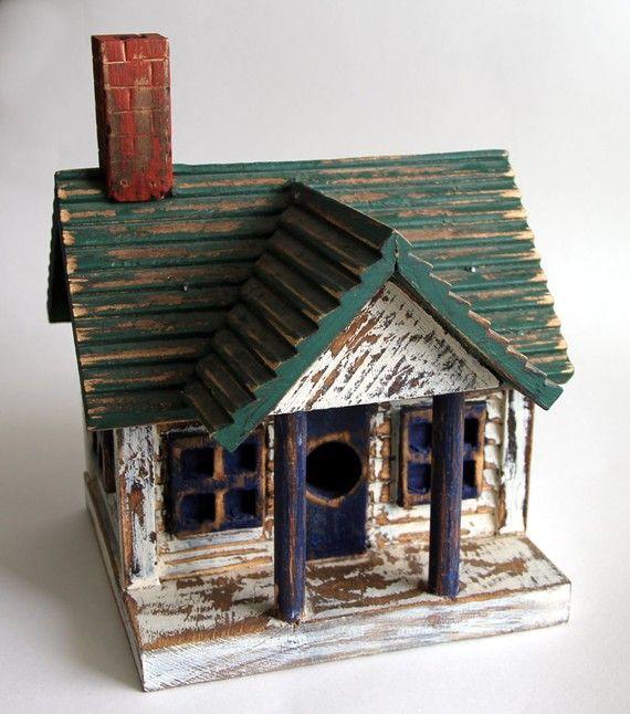 Handmade Wooden House Birdhouse Bird Houses Bird House Unique Bird Houses
