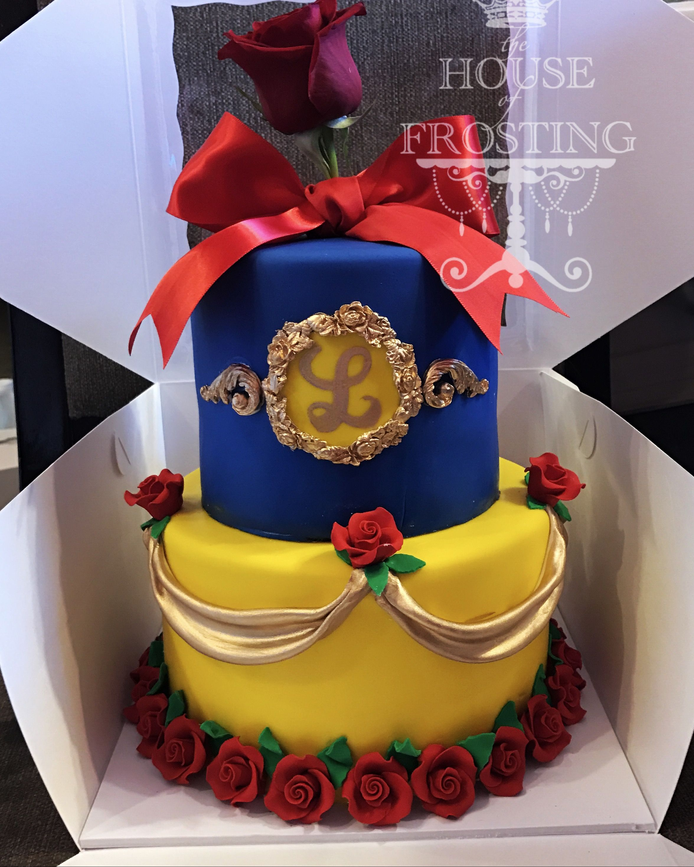 Beauty And The Beast Birthday Cake Beauty And The Beast Cake