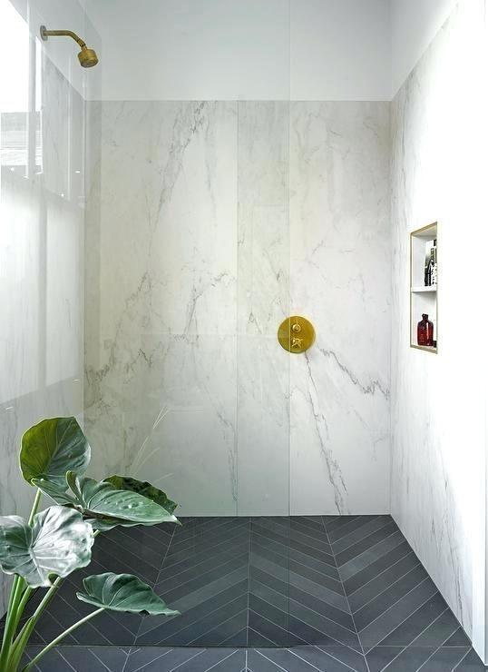 Herringbone Tile Pattern Bathroom Floor Dark Gray Slate Shower Tiles Contemporar 20 In 2020 Patterned Bathroom Tiles Marble Bathroom Designs Bathroom Remodel Shower