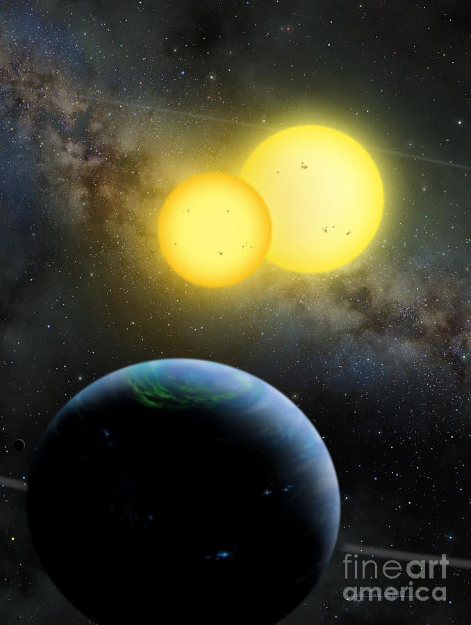 Kepler-35 by Lynette Cook | Planetary system, Planets ...