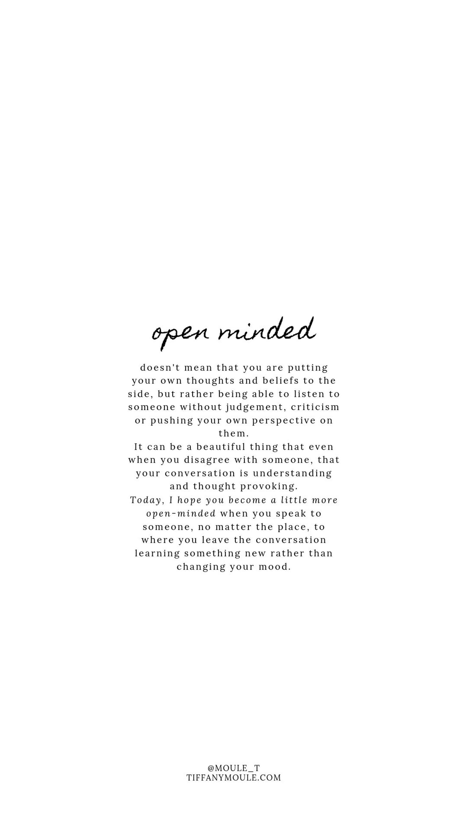 Open Minded Quote By Tiffany Moule Etsy Self Healing Quotes Perspective Quotes Mindfulness Quotes